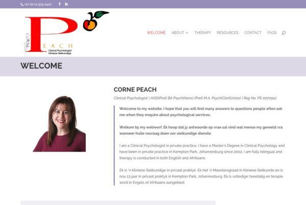 Clinical Psychologist website design