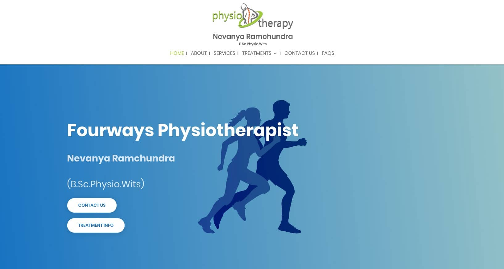 Physiotherapy website design Johannesburg