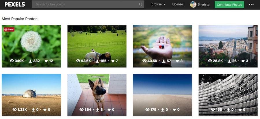 Free stock image sites, Pexels