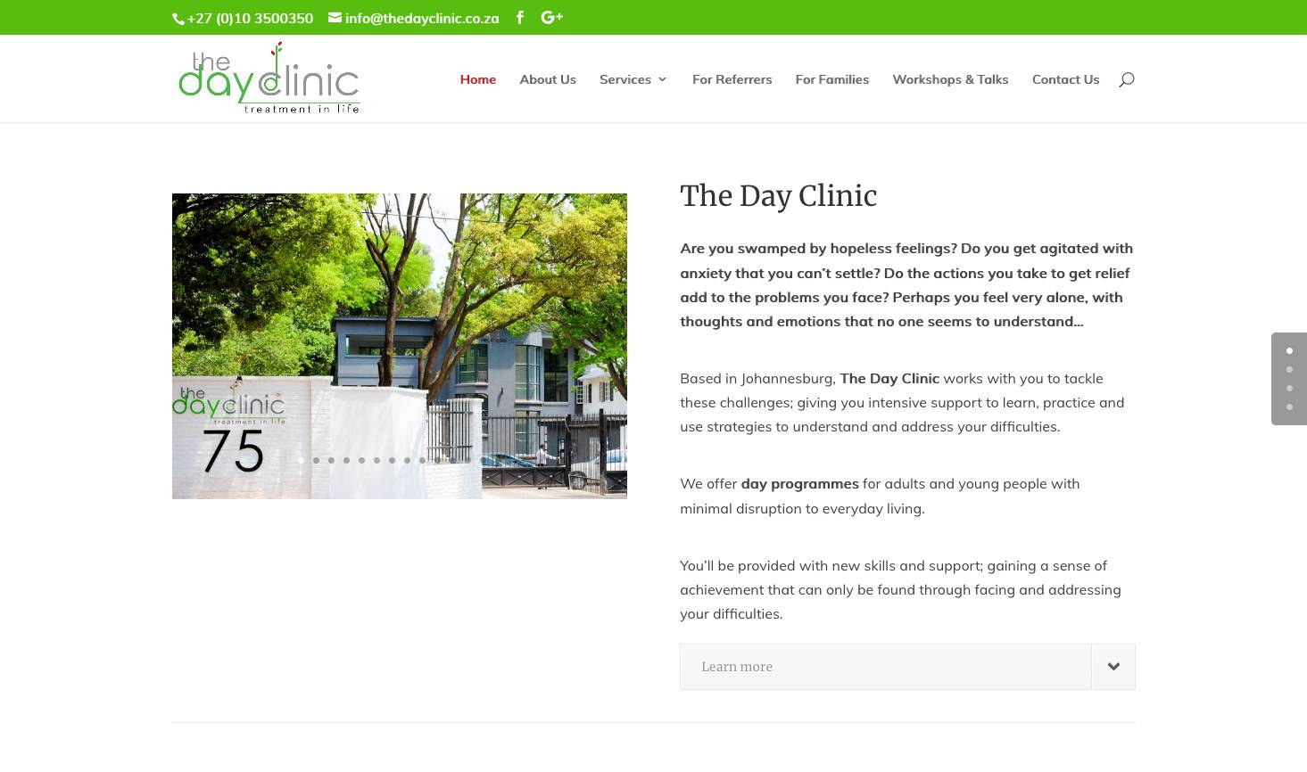 Healthcare Day Clinic Website