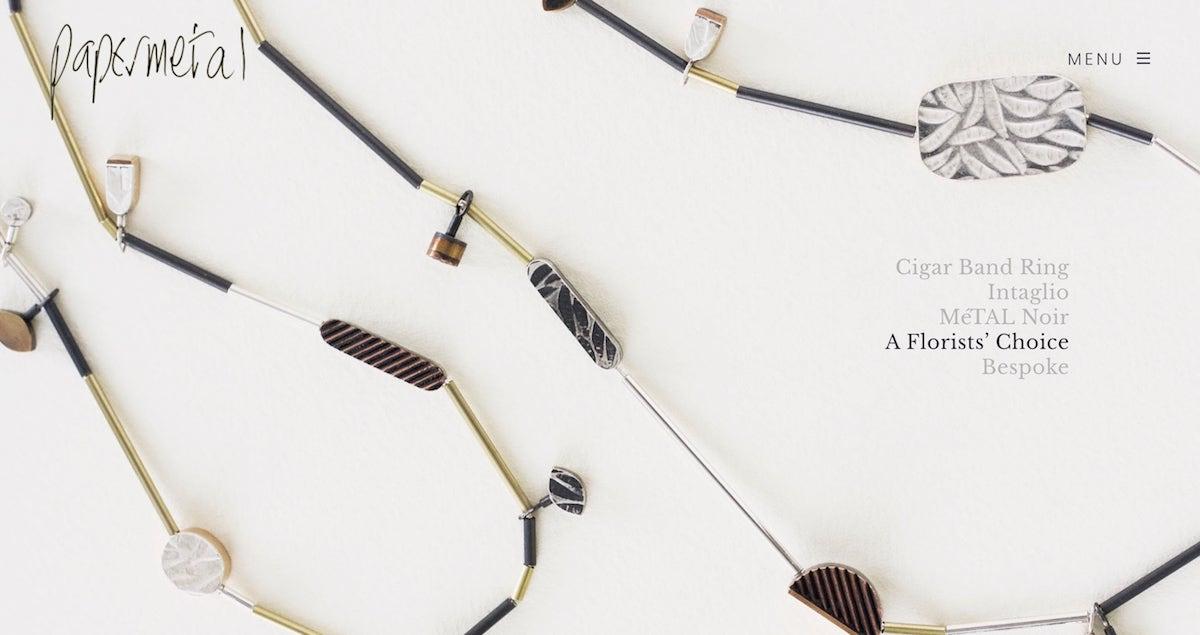 Jewellery Designer Portfolio WordPress Website