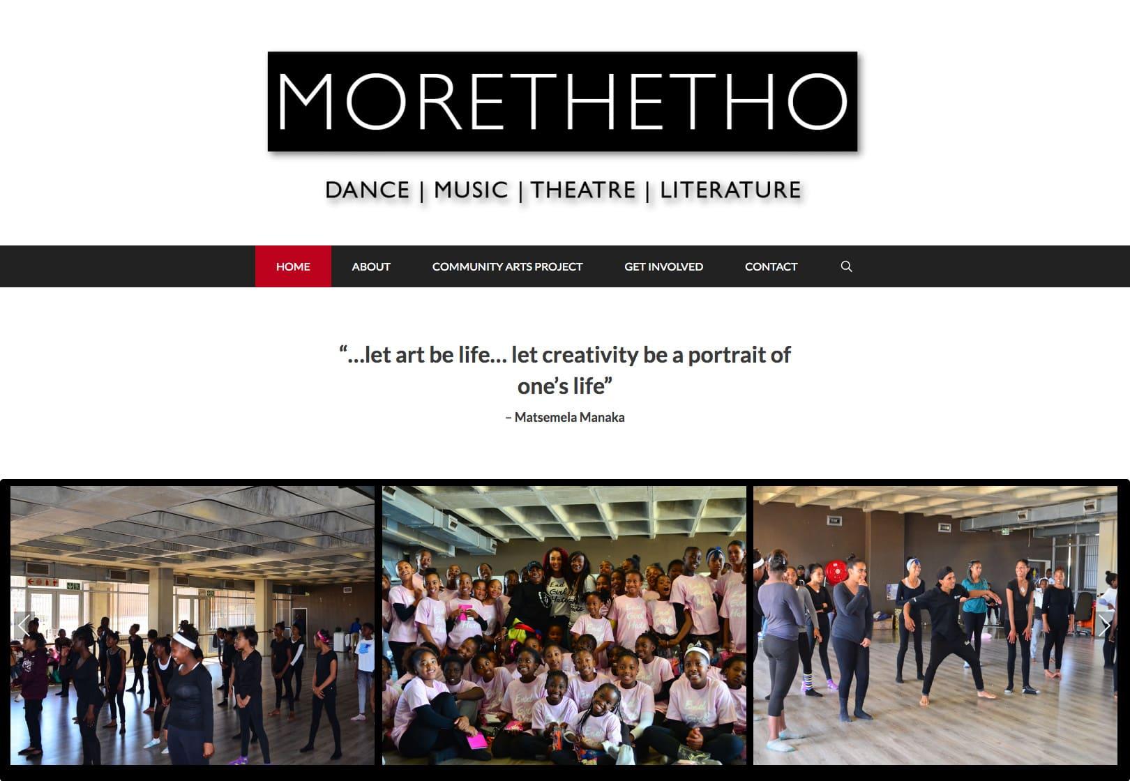 Non Profit Website Morethetho
